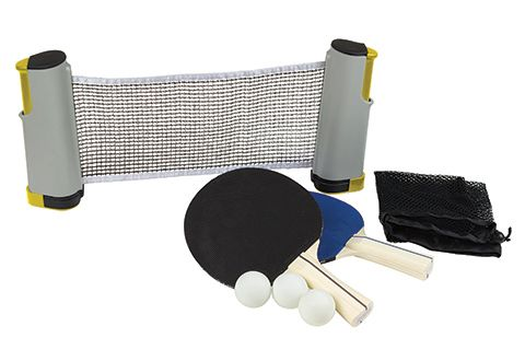 play table tennis anywhere the retractable table tennis set lets rh pinterest com