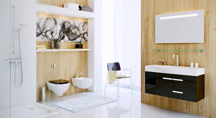 Meuble salle de bain noir en 30 idées d\u0027aménagement trendy