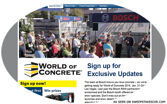 Robert Bosch Tool Corporation Woc Sweepstakes Bosch Bosch Tools Sweepstakes