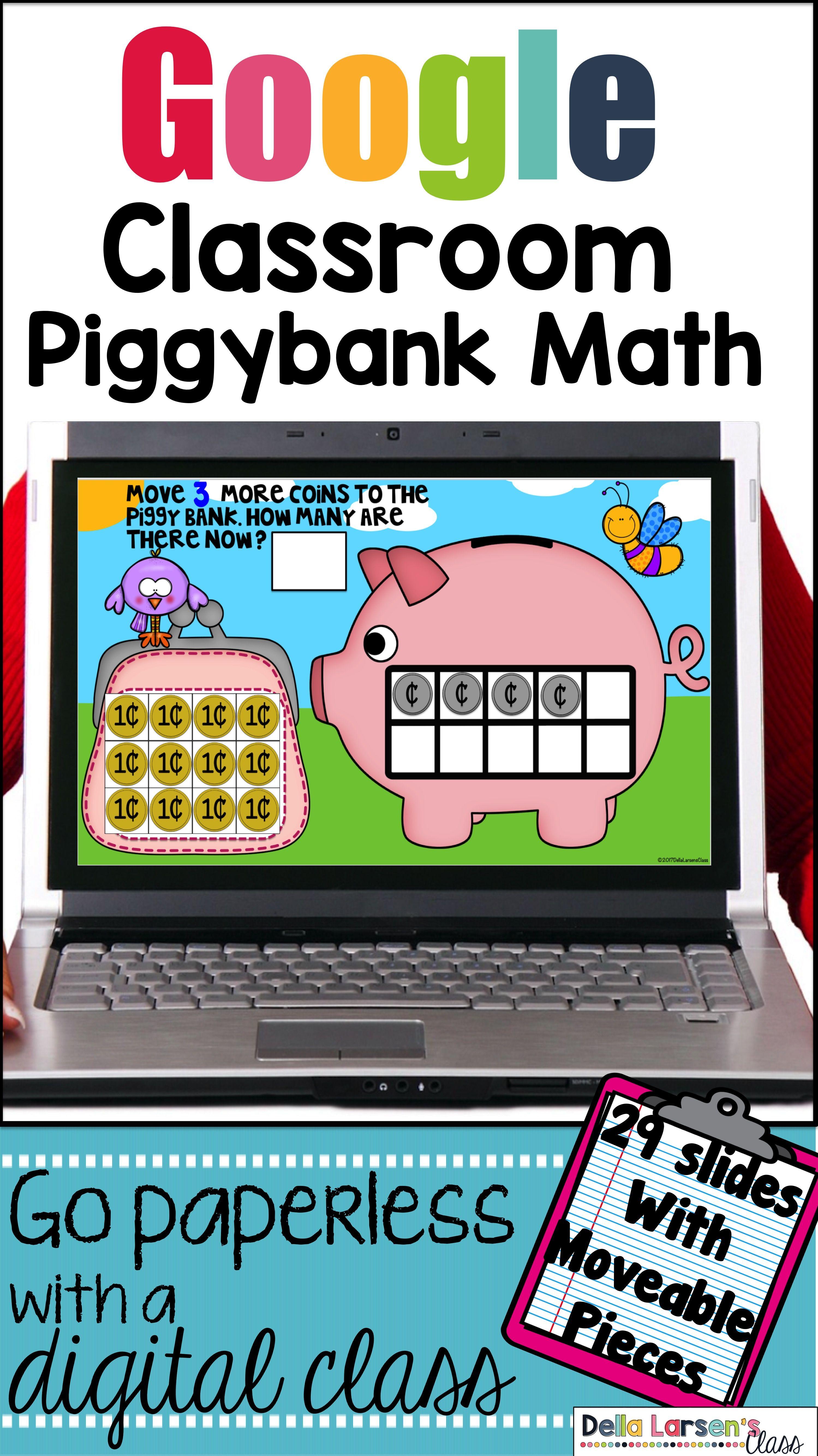 piggybank digital math center for use with google classroom best rh pinterest com