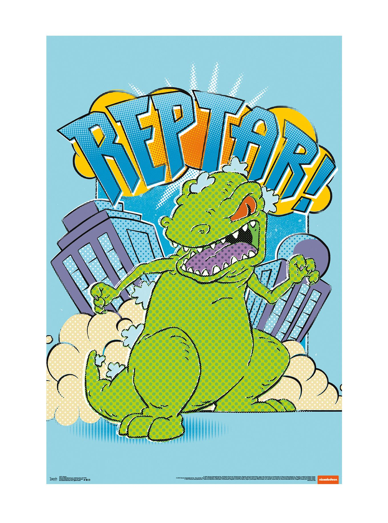 Rugrats Reptar Poster | Hot Topic | Arcade | Pinterest | Rugrats ...