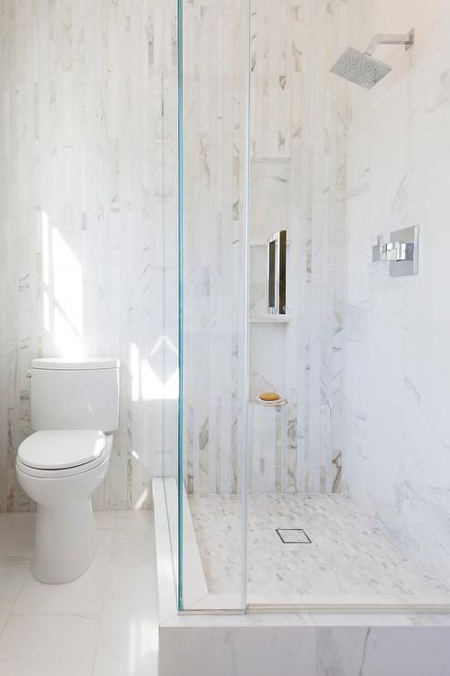 seamless glass shower doors open to a walk in shower fitted with rh pinterest com