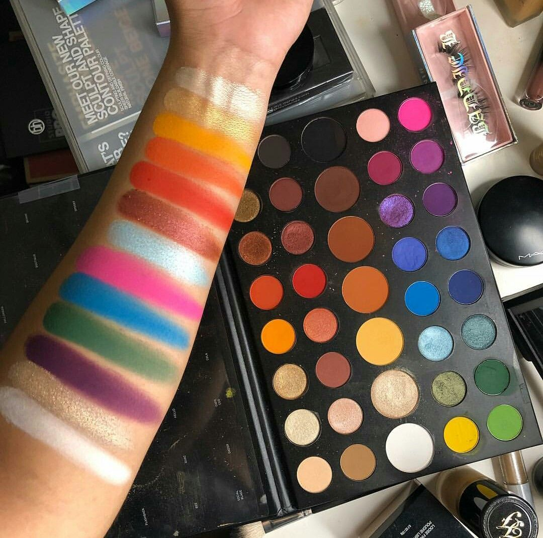 Swatches🔥of the Morphe James Charles Artistry Palette😱 pic via ...