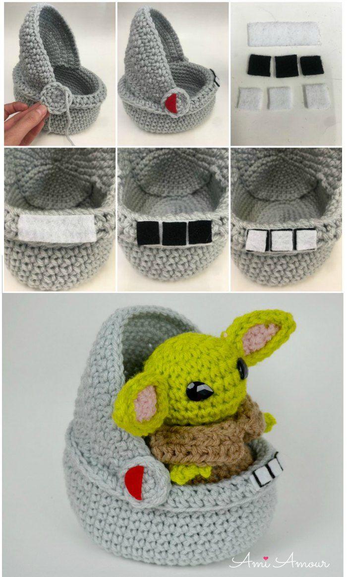 Space Pod for Yoda Amigurumi! - Free Pattern - Ami