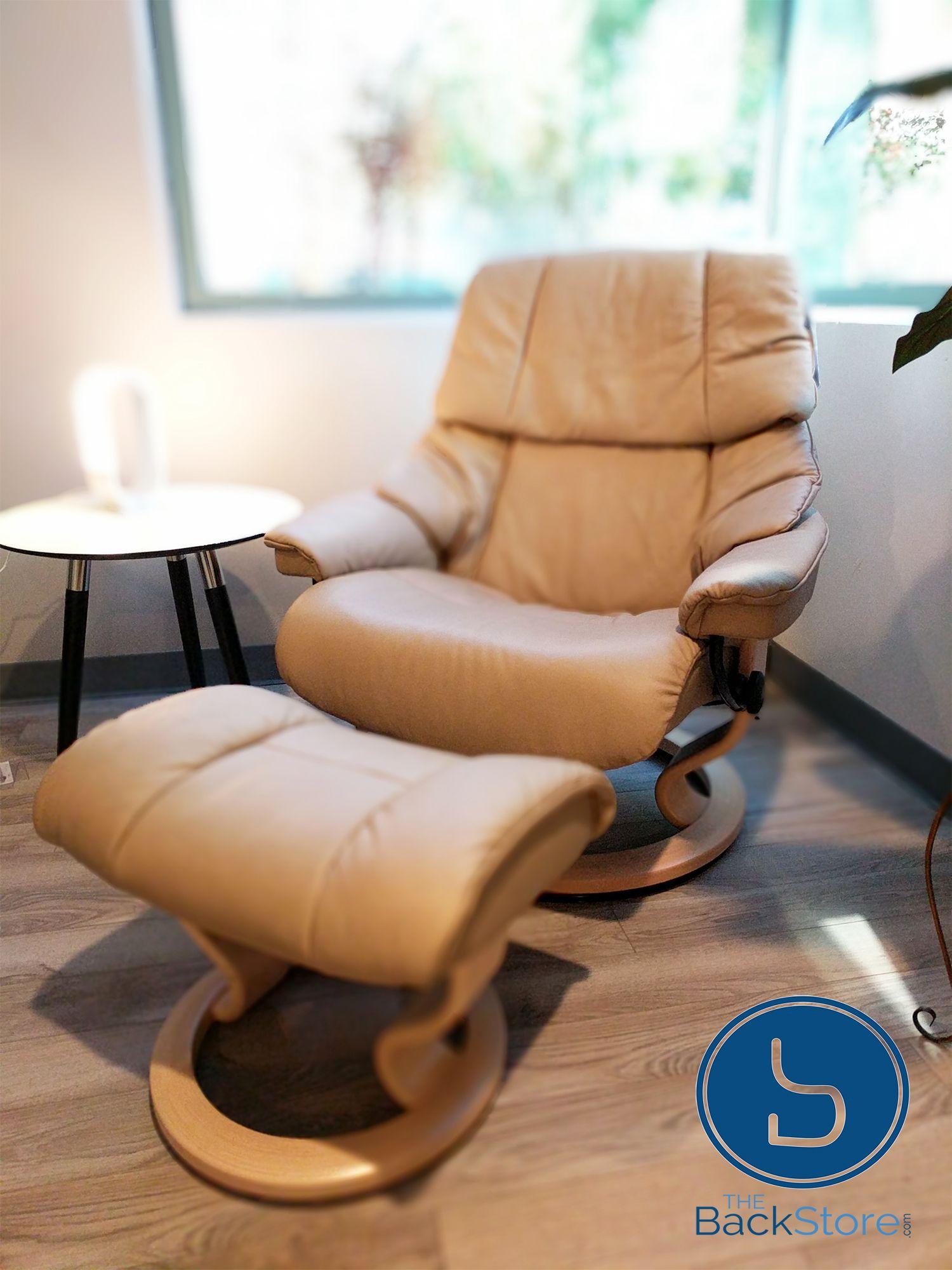 stressless reno large recliner with ottoman vegas by ekornes rh pinterest com