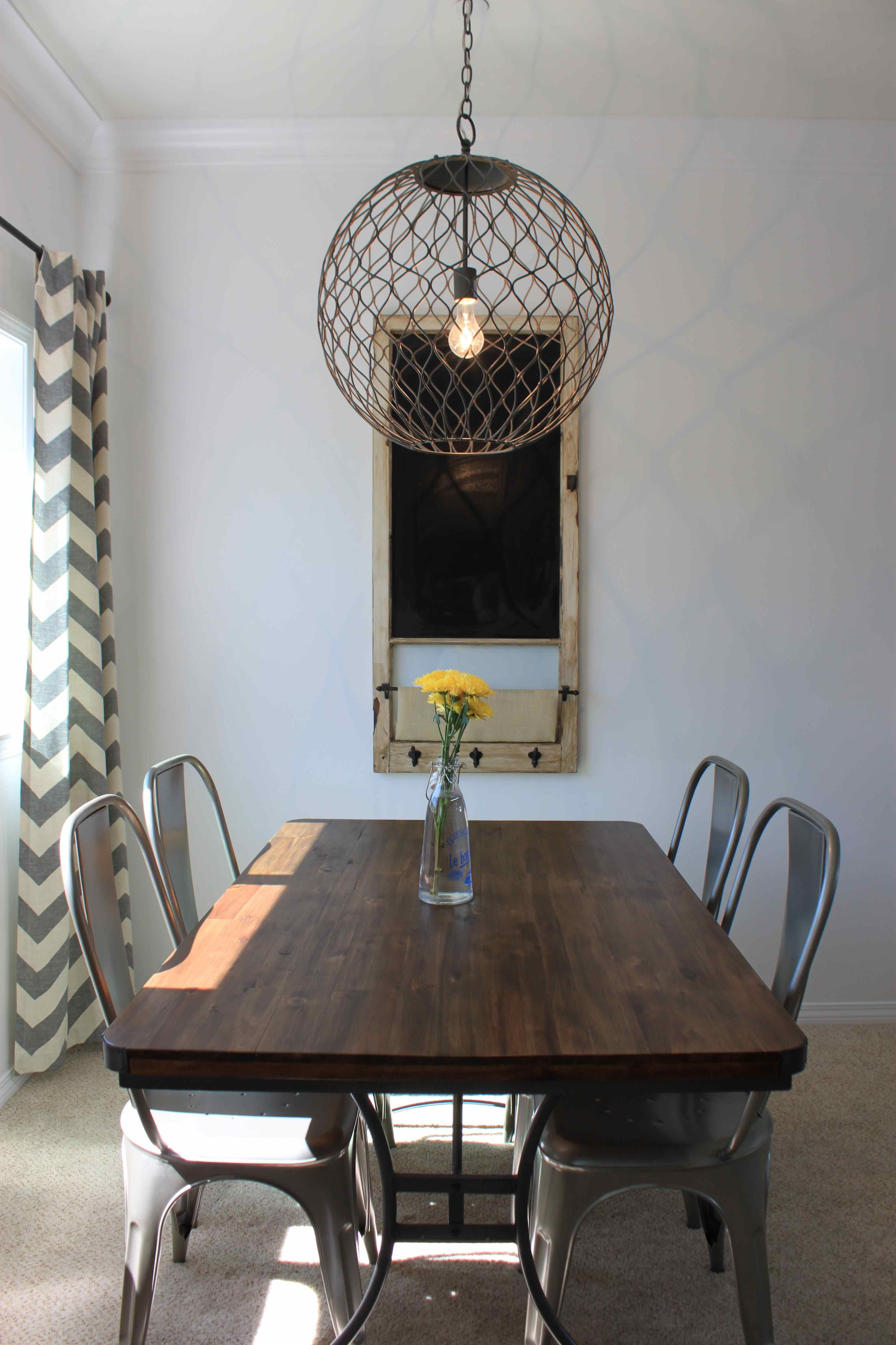 exciting wire orb chandelier belle escape and dark wood dining table rh pinterest cl
