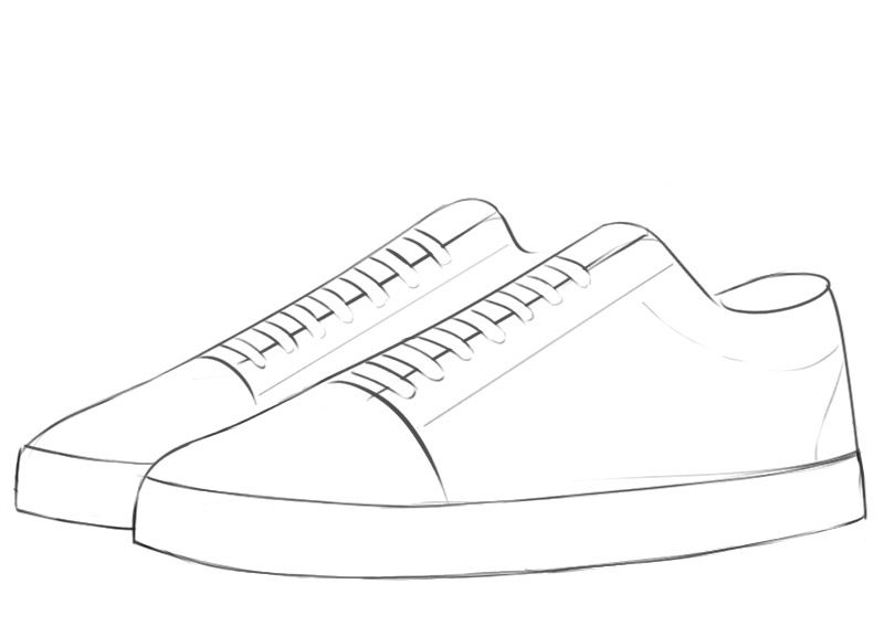 How To Draw A Sneakers Easy Sneakers Drawing Fashion Illustration Sketches Dresses Fashion Design Drawings :) please subscribe our channel to get newest and latest drawing tutorial. how to draw a sneakers easy sneakers