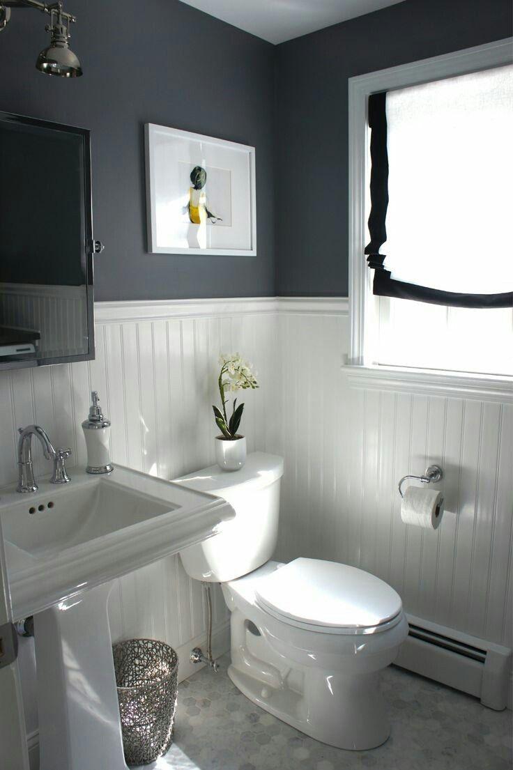 beadboard and dark paint color but in laundry room bathroom ideas rh pinterest com