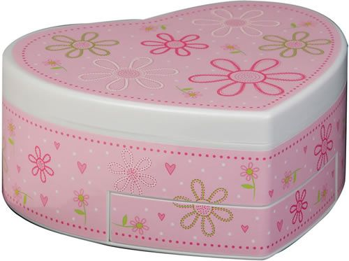 Girl's Musical Ballerina Box in Pink Available at JewelryBoxPlus.com
