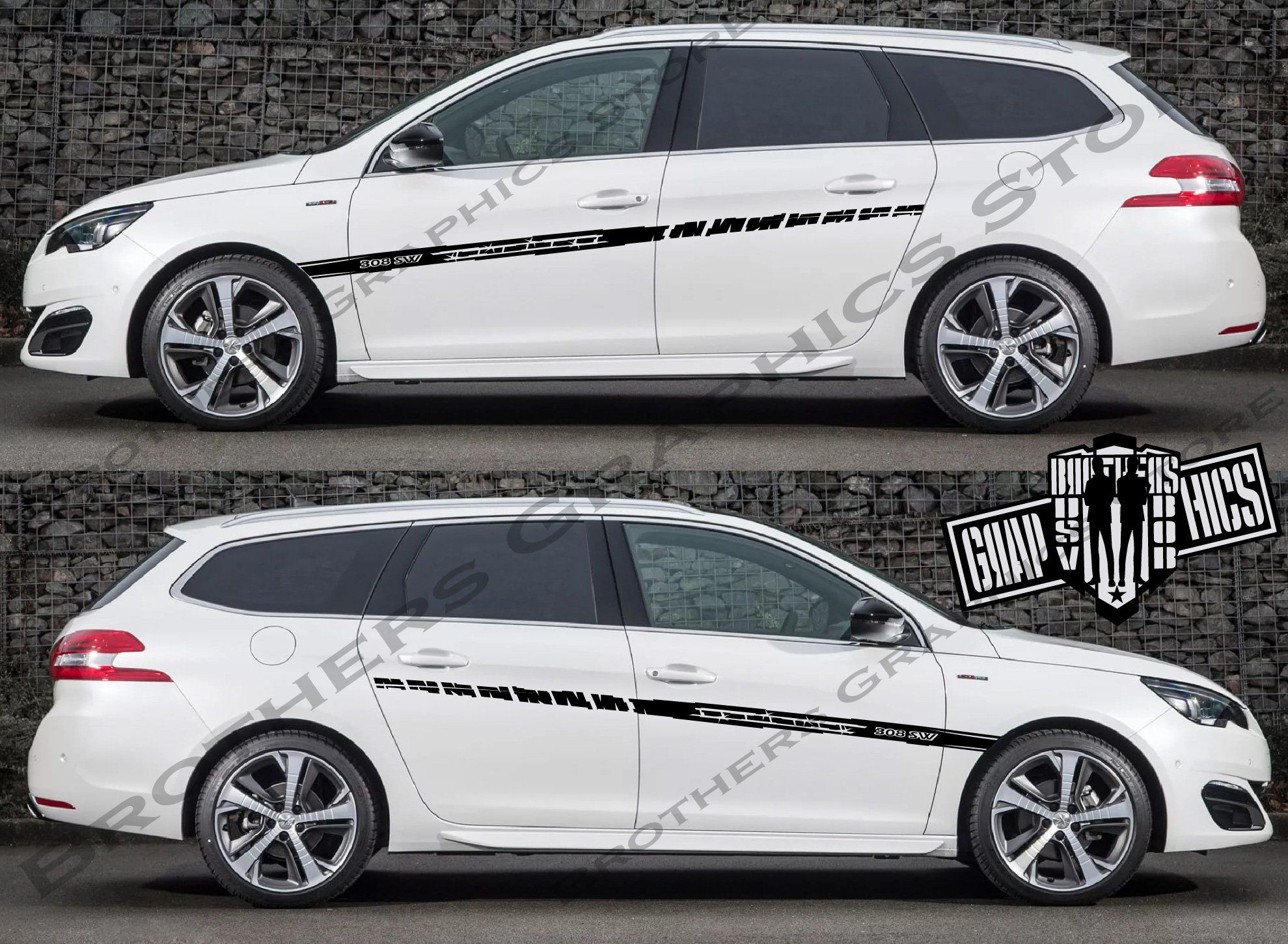 Excited To Share This Item From My Etsy Shop 2x Sticker Decal Kit Compatible With Peugeot 308 Sw Everythingelse Bir Car Model Model Cars Collection Peugeot