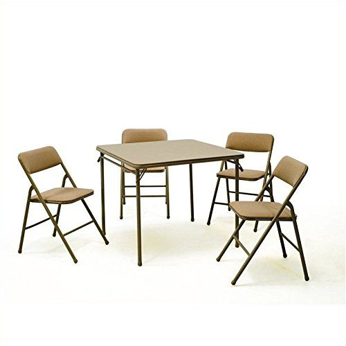 Cosco Products 5 Piece Folding Table And Chair Set Tan Http