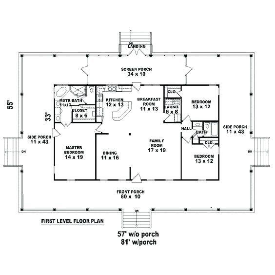 14 New Rectangular House Plans Wrap Around Porch Pics
