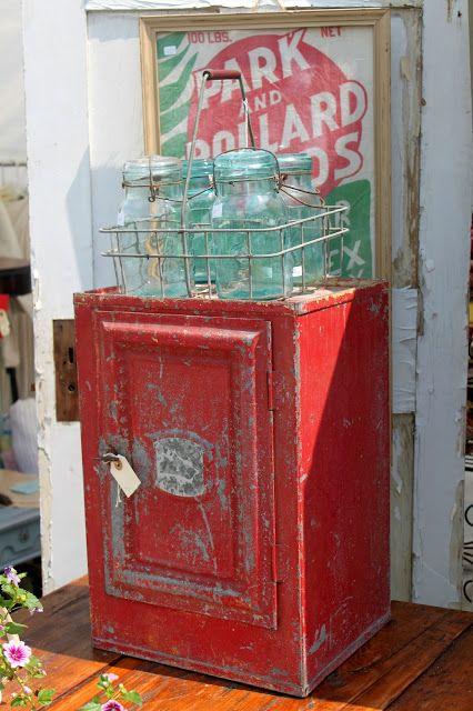52 FLEA via The Gypsy Paintbrush ...super cute red ice box!