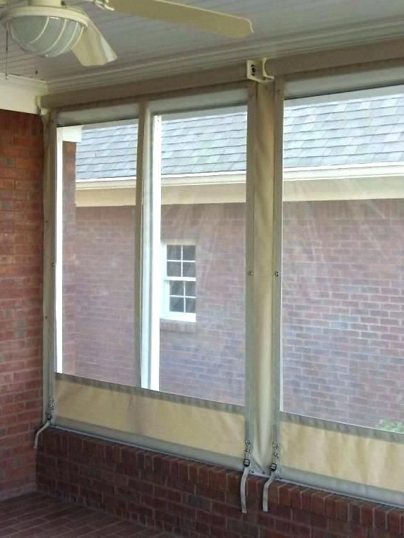 Elegant Vinyl Patio Enclosures And Clear Vinyl Curtains For Porch Enclosures  Power Screens For Rain And