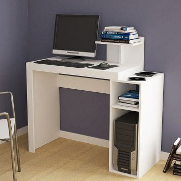 20 best modern computer desk designs in white color furniture in rh pinterest com