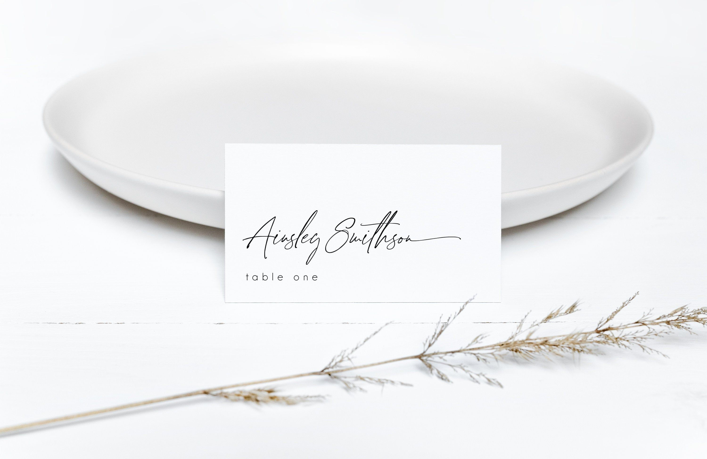 Minimalist Wedding Place Card Editable Wedding Name Card Etsy Wedding Name Cards Wedding Place Cards Printable Place Cards
