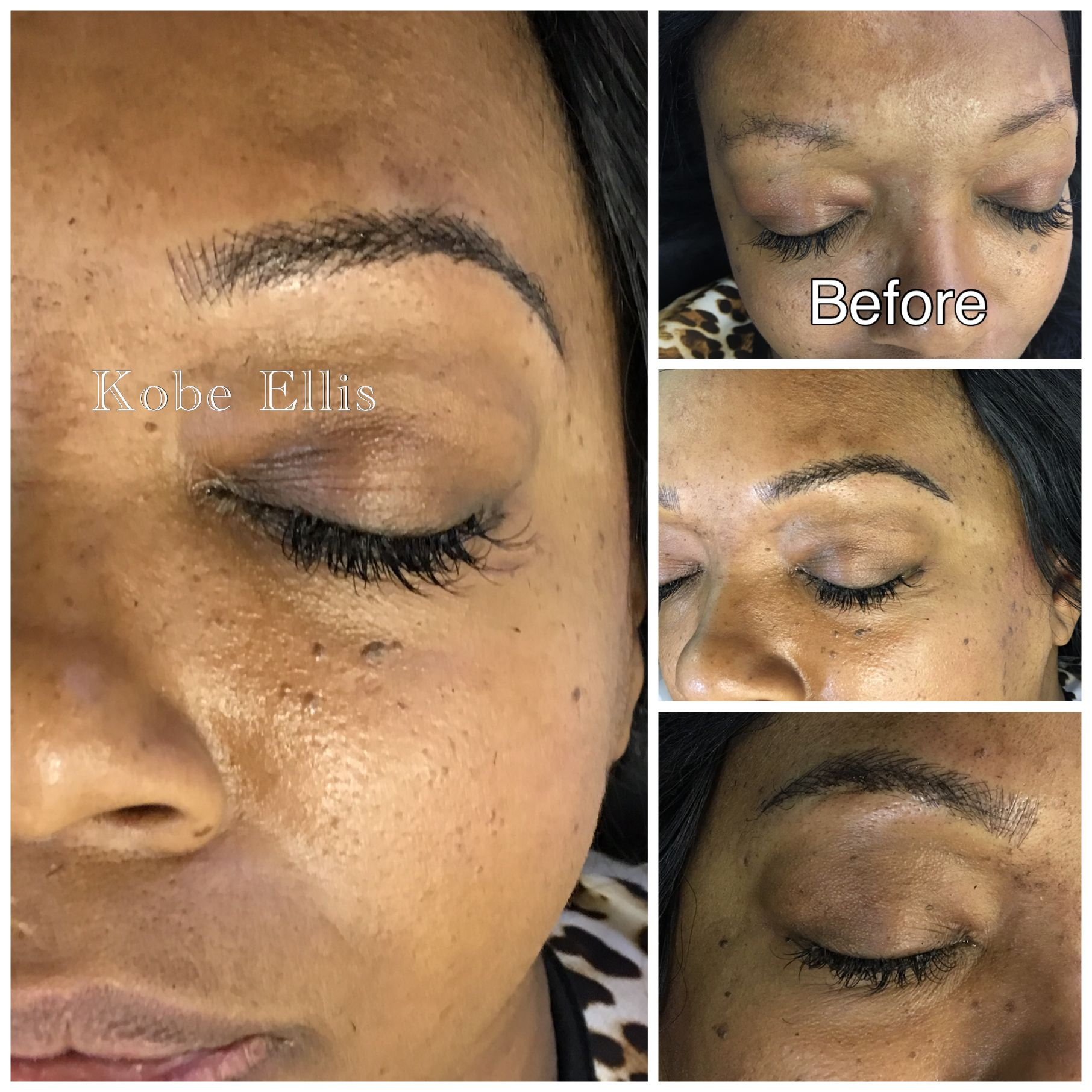 Kobe Ellis can use microblading or 3dbrowembroidery to