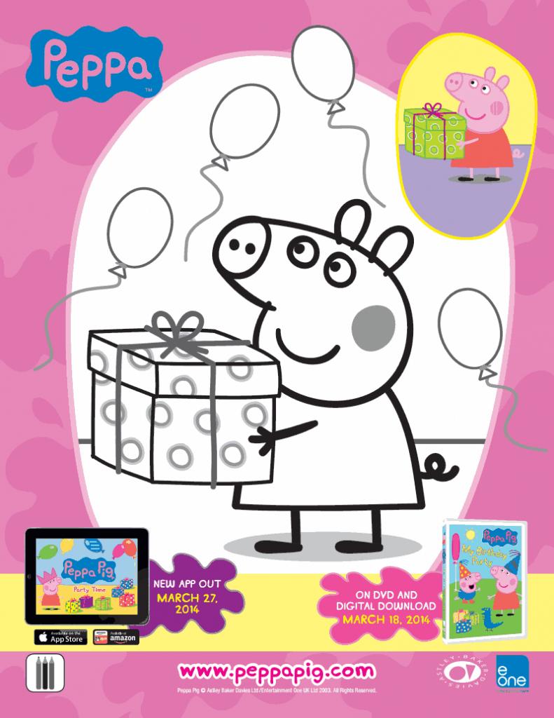 printable peppa pig coloring sheet