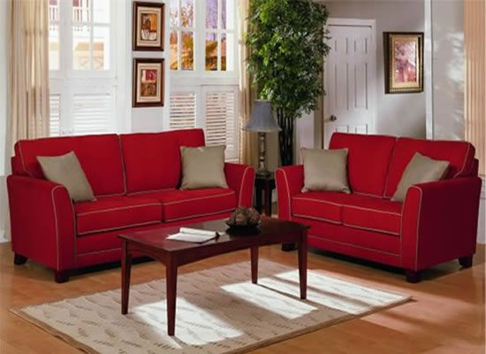 grey walls and beige accents tone down the red leather sofas rh pinterest com
