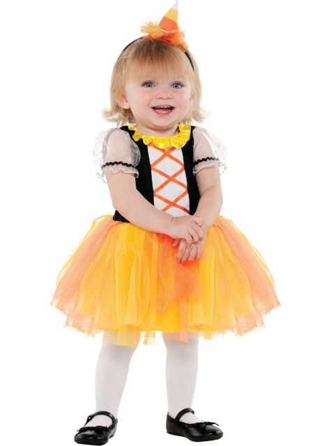 Baby Candy Corn Witch Costume - Party City  sc 1 st  Pinterest & Baby Candy Corn Witch Costume - Party City | All dolled up ...