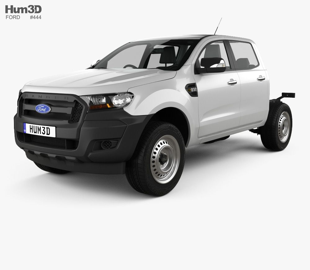 3d Model Of Ford Ranger Double Cab Chassis Xl 2016 Ford Ranger Double Cab Ford Ranger 3d Model