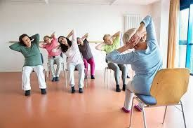 image result for chair yoga  ejercicios adulto mayor yoga