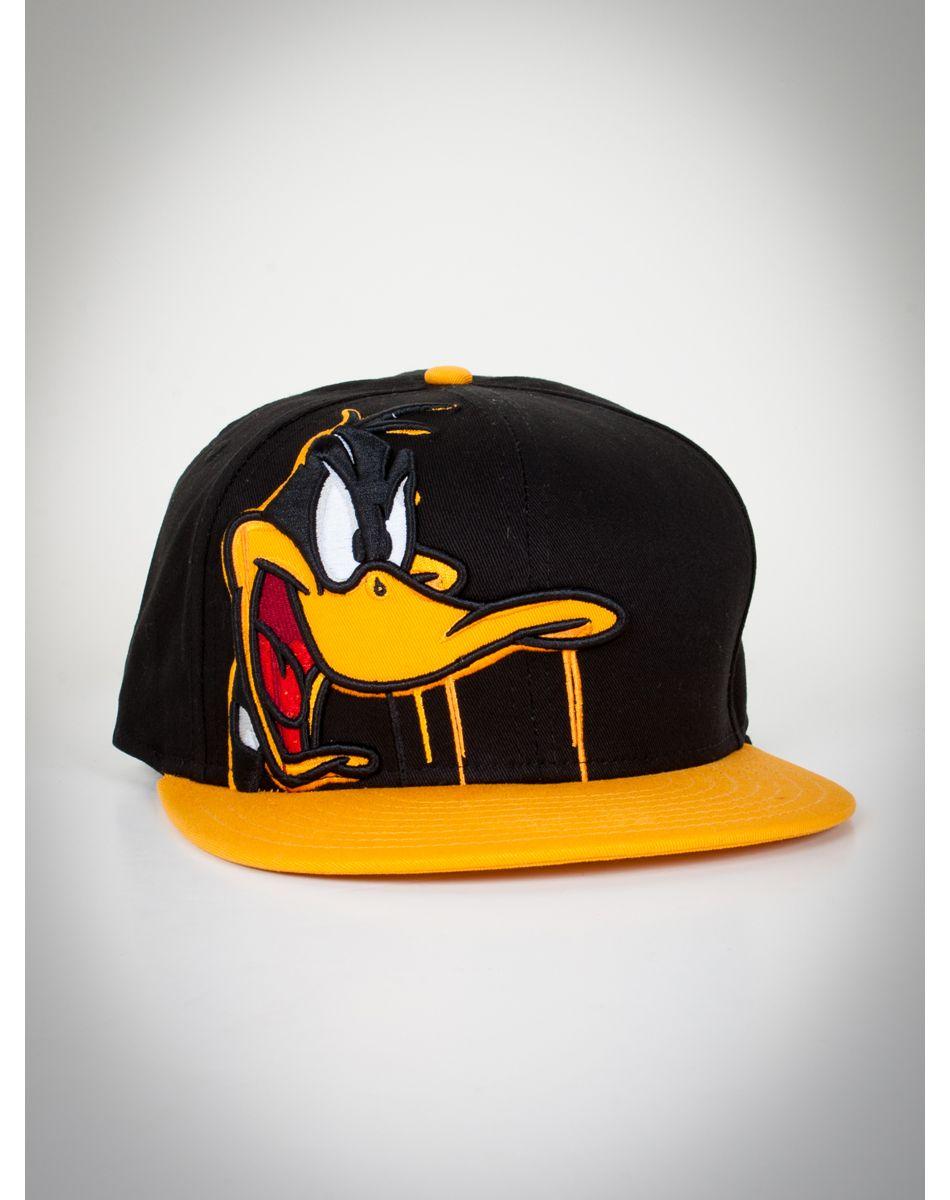 3b32727bb9205 Daffy Duck Drip Snapback New Era Hat Vintage Baseball Caps