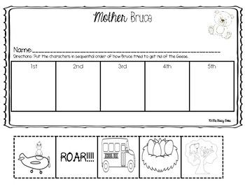 Mother Bruce Book Companion Worksheets Sequence Book Companion