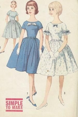 Vintage Sewing Patterns UnCut 1960s Simplicity 4322 Teen Girls ...