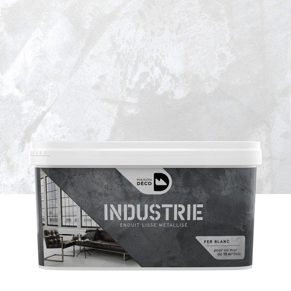 Peinture à Effet Industrie Maison Deco Fer Blanc 4 Kg En
