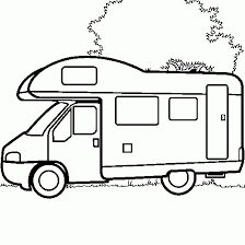 Image Associee Camper Drawing Camping Coloring Pages Cars Coloring Pages