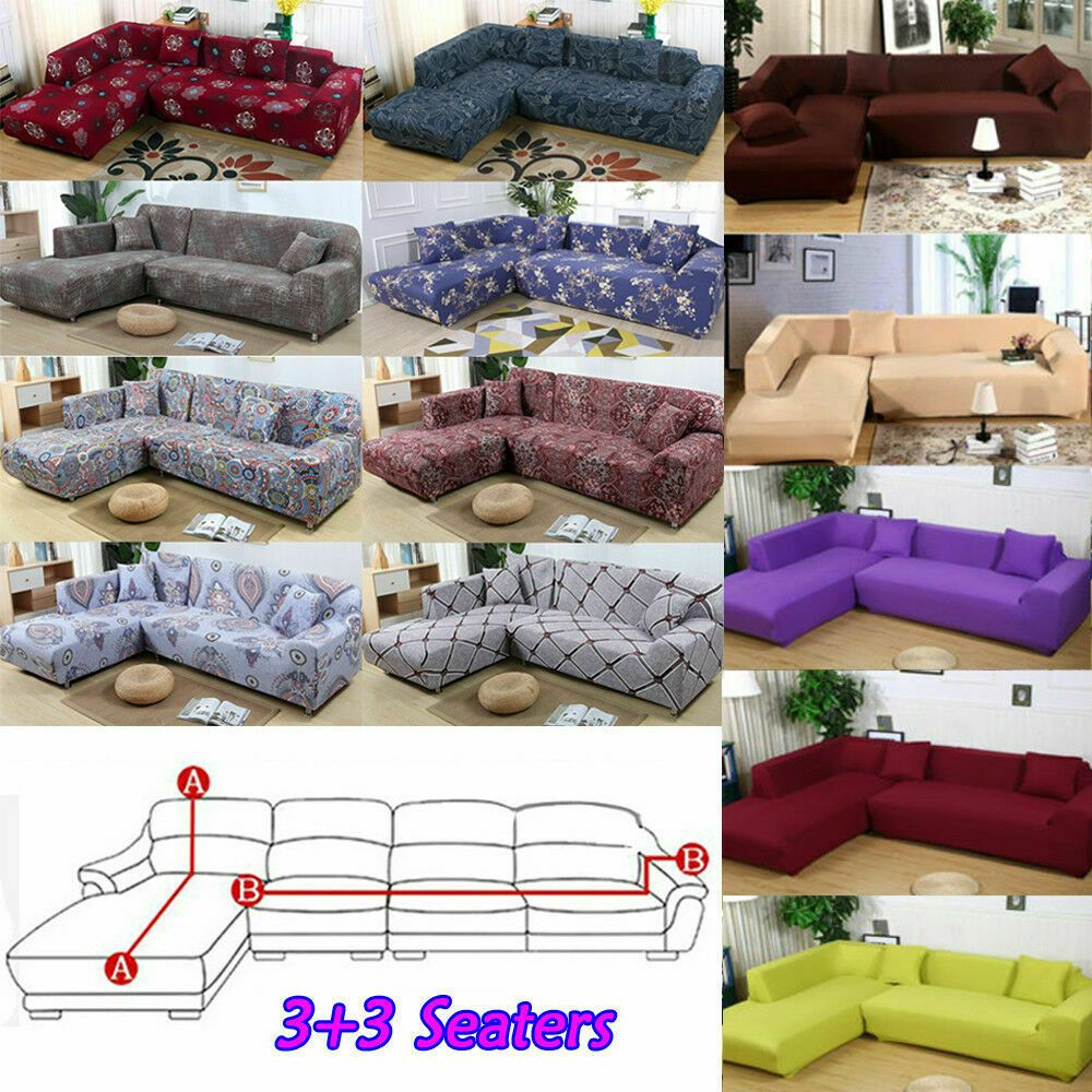 L Shape 33 Seaters Sectional Sofa Slipcovers 3 Seater Sofa Covers Protector Sofa Slipcover Ideas O In 2020 Sectional Sofa Slipcovers Slipcovered Sofa Sofa Covers