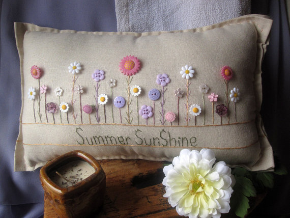 Summer Sunshine Pillow (Cottage Style)