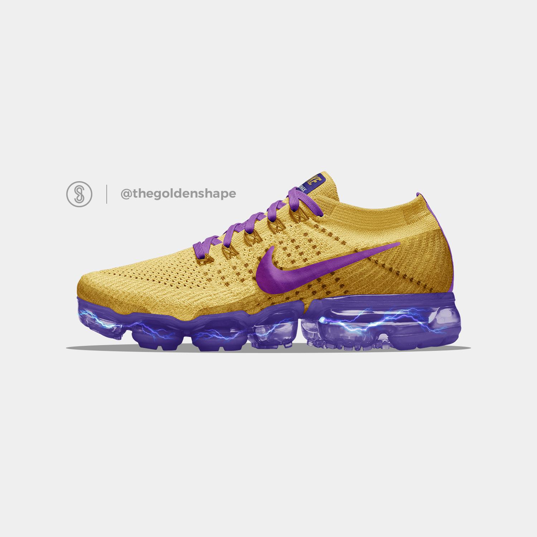 dec29829ab740 Dragon Ball Super x Nike Air VaporMax Golden Freezer  Sneakers ...