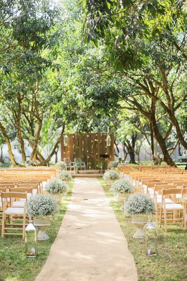 backyard wedding ceremony decoration ideas%0A Wedding Decor  An Enchanted Garden Affair    via Bride and Breakfast