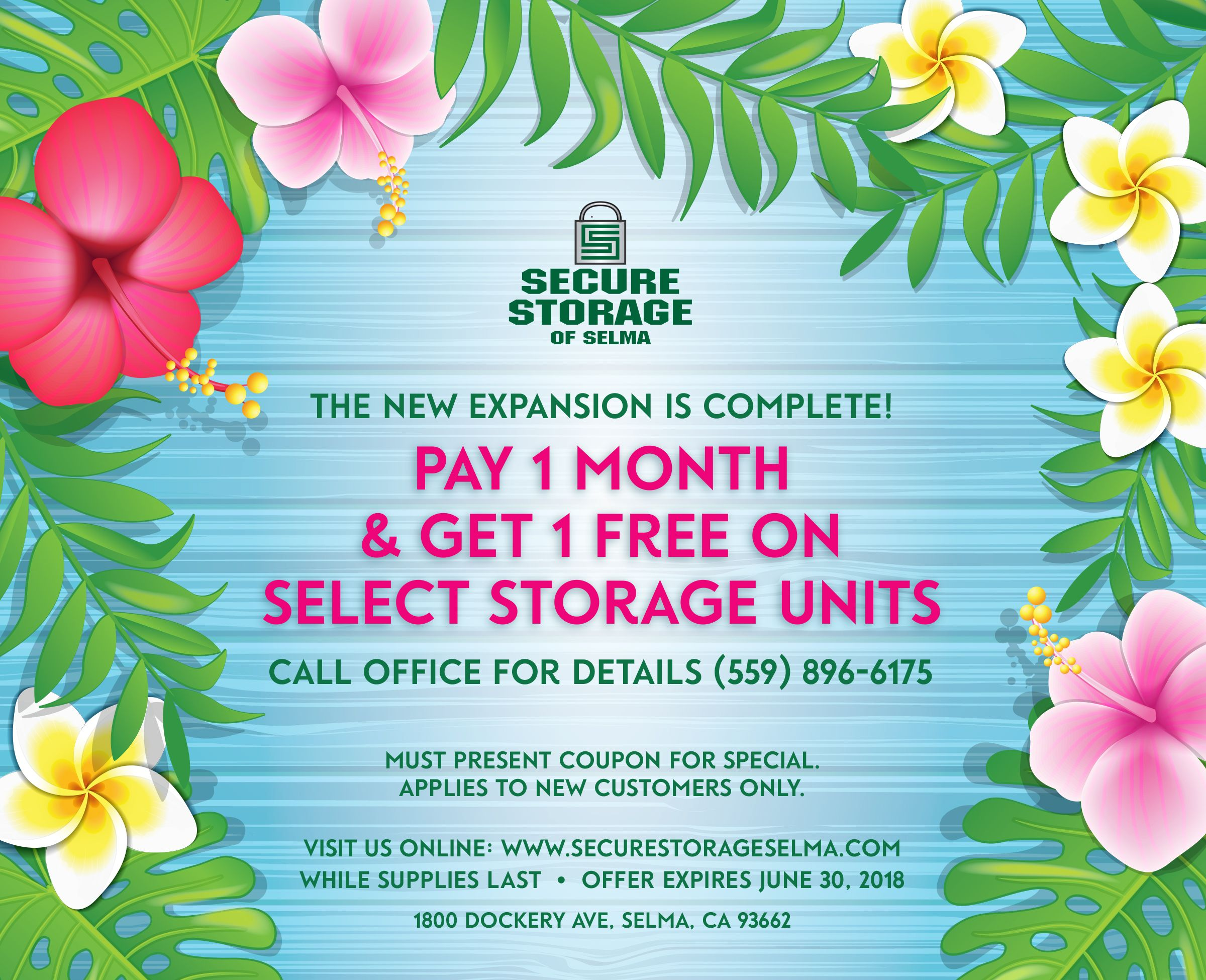 Pay 1 Month Get The 2nd Month Free For All New Move Ins In The Month August Calls Us At 559 896 6175 To Reserve Your Unit T Secure Storage The Unit Storage