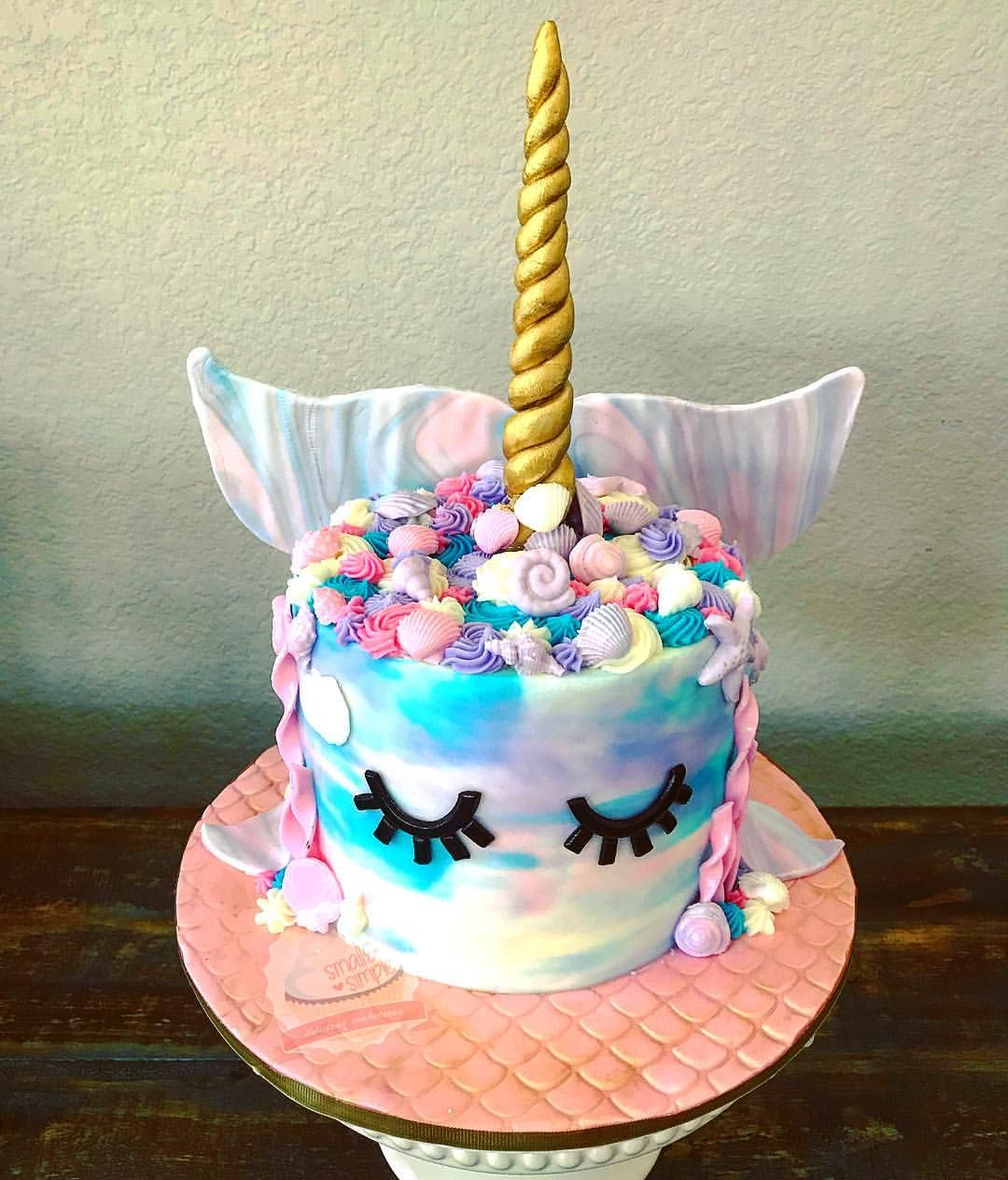 Magnificent One Of My Favorite Cakes Narwhal Cake Funny Birthday Cards Online Eattedamsfinfo