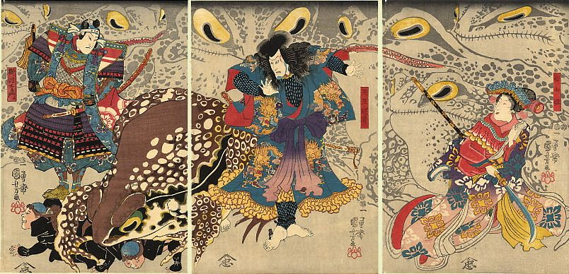 The Magic Toads - Utagawa Kuniyoshi