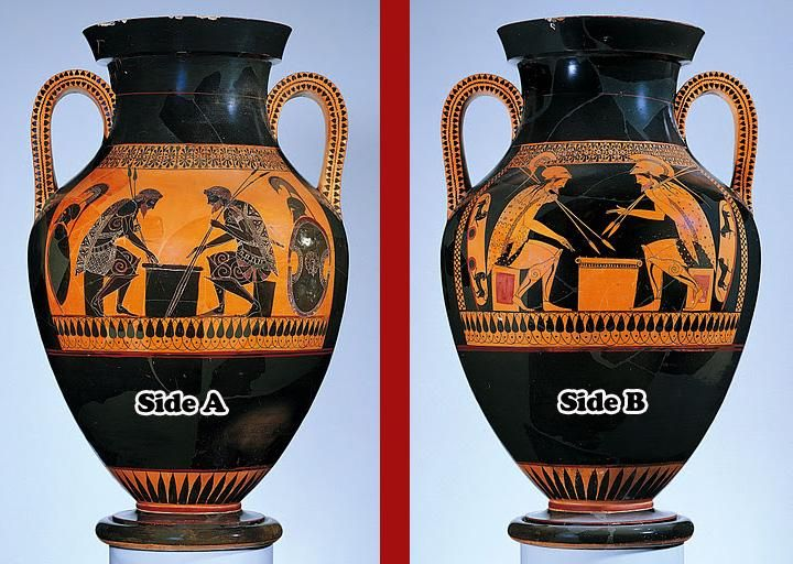 3.20 and 3.21 Andokides Painter, Achilles and Ajax