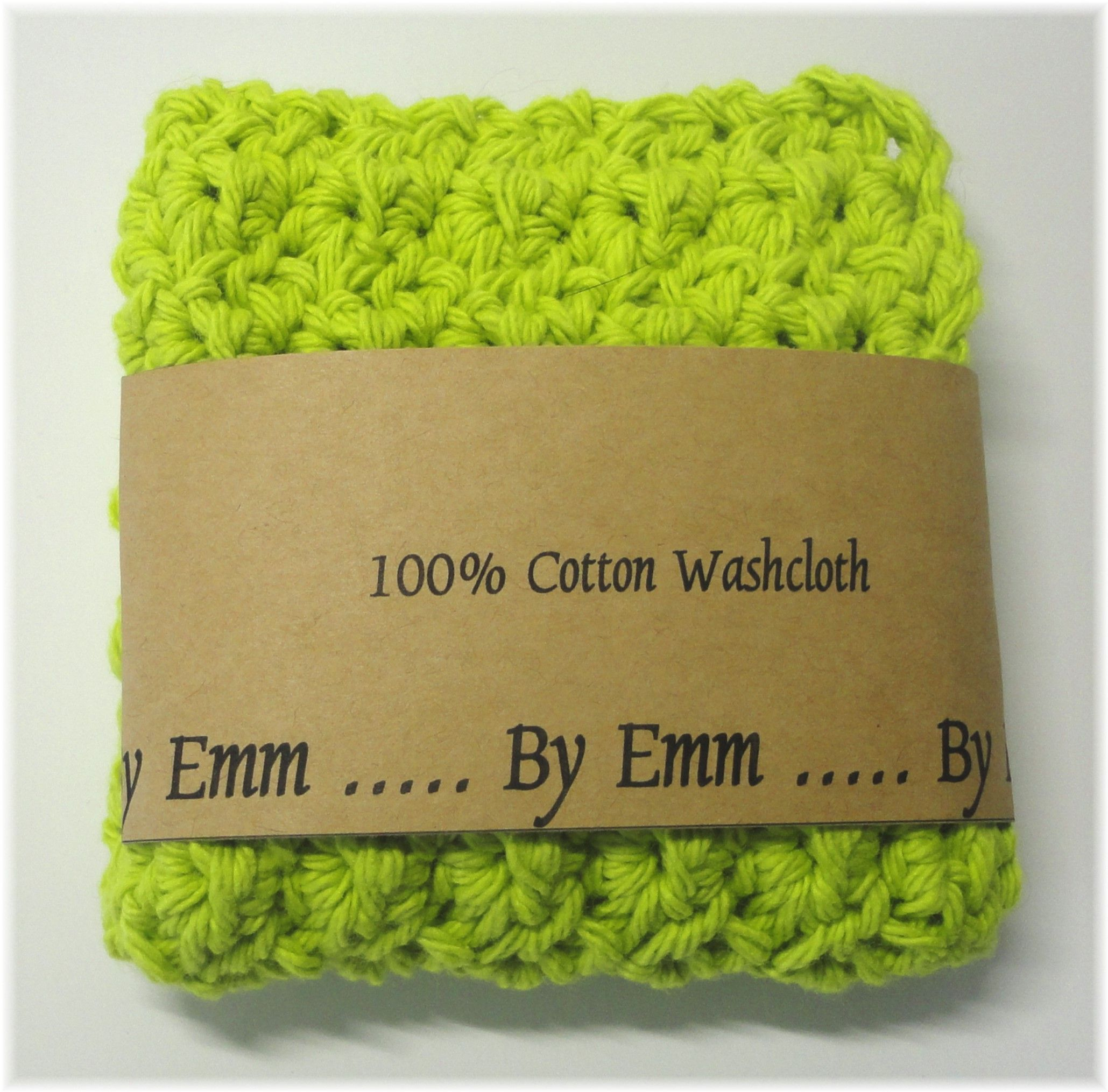 Environmentally Friendly Reusable 100 Cotton Spa Style Washcloth Or Face Cloth Cotton Washcloth Crochet Faces Crochet Washcloth