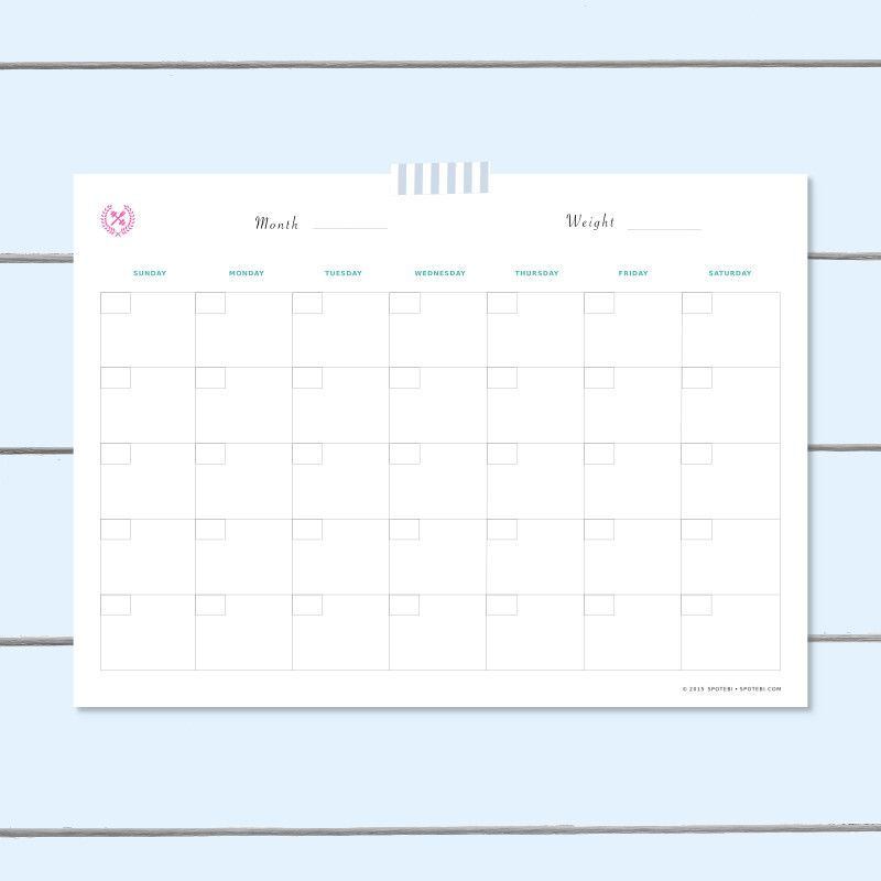 Workout Schedule Template - workout char template