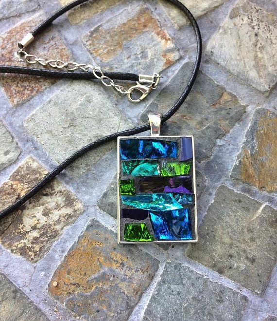 Mothers day giftmosaic jewelrymosaic pendantblue green mosaic mothers day giftmosaic jewelrymosaic pendantblue green mosaic necklace pendantwearable artgift for her under 30mosaic gift aloadofball Choice Image