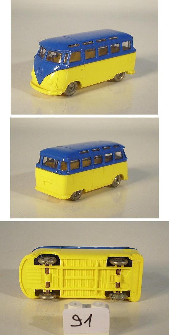 lego 1 87 volkswagen vw bus samba gelb blau ohne blinker. Black Bedroom Furniture Sets. Home Design Ideas