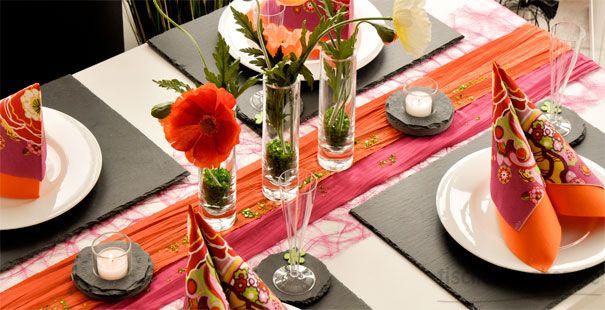 bunte tischdeko im sommer tischdeko grillen pinterest orange pink. Black Bedroom Furniture Sets. Home Design Ideas