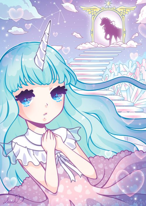 Anime Girl Unicorn : anime, unicorn, Works, Kirameki, Mag!!, There, An..., Saaki, PYROP, Kawaii, Anime,