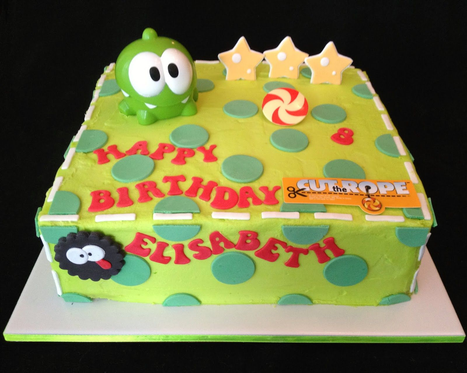 Pin on Om nom cut the rope party