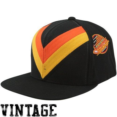 Mitchell   Ness Vancouver Canucks Vintage Team Jersey Adjustable Snapback  Hat - Black by Mitchell   a01e576aa2f1