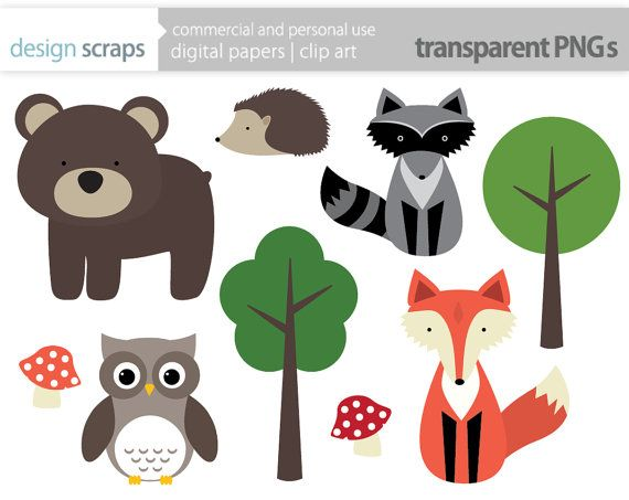 Woodland Animal Clip Art Graphics Forest Animals By Designscraps 3 50 Woodland Animals Forest Animals Woodland Clipart