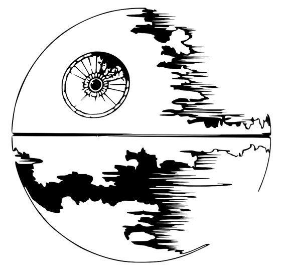 Death Star Outline Star Wars Drawings Death Star Tattoo Star Wars Tattoo