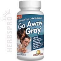 Go Away Gray Capsules 60 caps. Very useful if you've got gray hairs